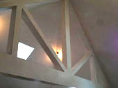 Plastered Trusses in a Vaulted Ceiling