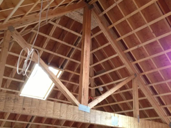 Plastering for residential and commercial projects in ma for Vaulted ceiling trusses